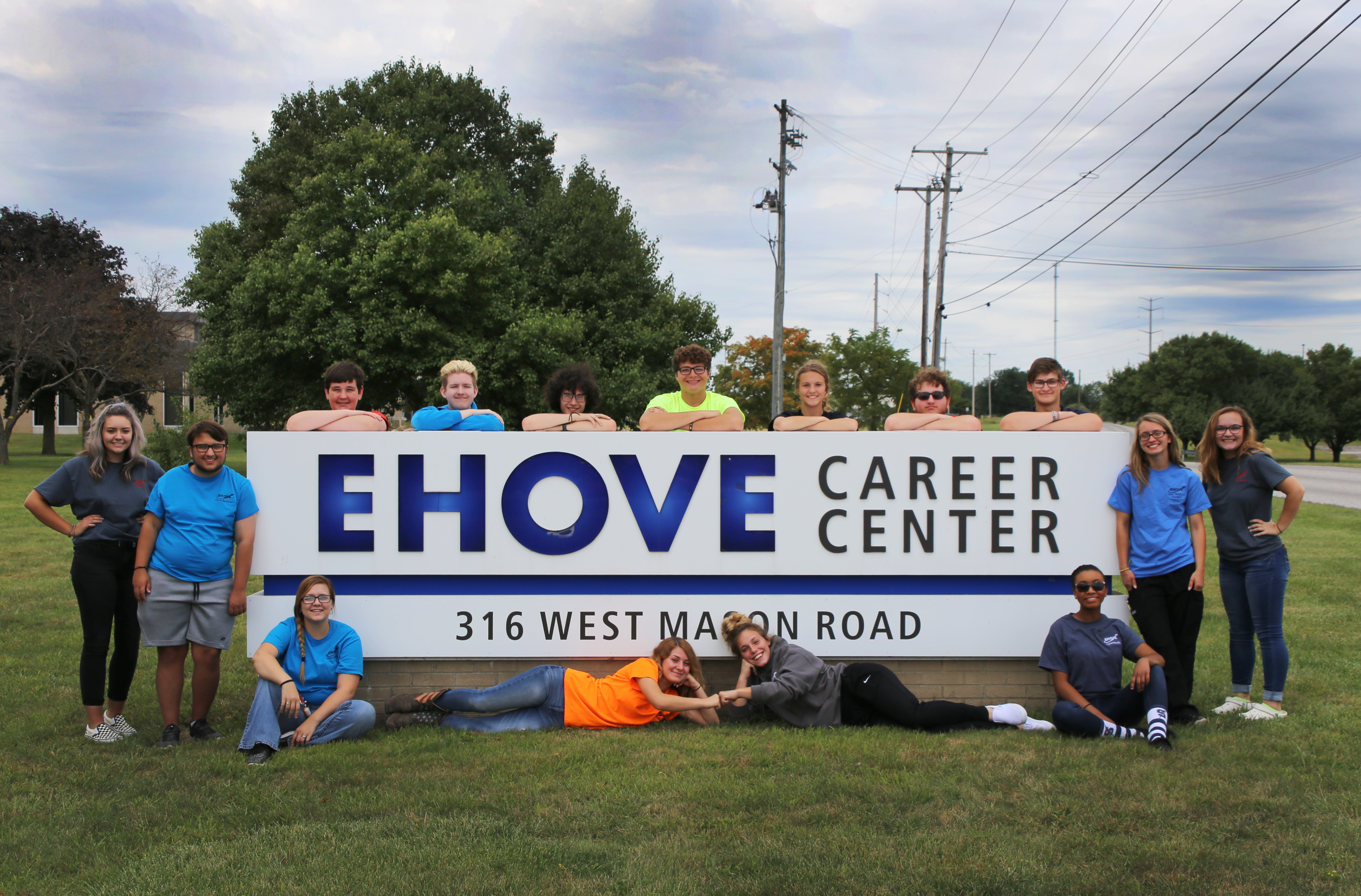 Kids with EHOVE sign
